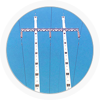 Poteaux électriques en béton